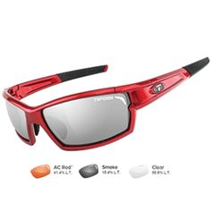 f30340f7bf2 Tifosi Camrock Metallic Red Interchangeable Sunglasses - Smoke-AC Red™-Clear.  Camrock