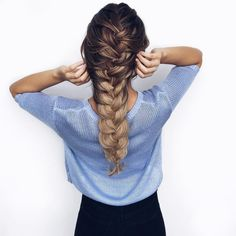 Ashley Marie Bloomfield is rocking fun thick braids for the summer!