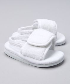 3a1419bc9b36 White Velour Spa Slipper by Baby Deer