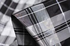 Designer Black/Silver/Greychecked silk/lurex duppion. Width: 138cm This is idealfor ...