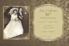 Wedding Anniversary Invitations – Golden Years anniversary invitations, wedding a Golden Anniversary Gifts, 50th Wedding Anniversary Invitations, Photo Invitations, Printable Invitations, Invites, Marriage, Party Ideas, Shopkins, Digital