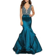 Mac Duggal Embellished Mermaid Gown