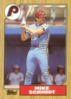 Mike Schimdt 1987 Topps Baseball Card Philadelphia Phillies