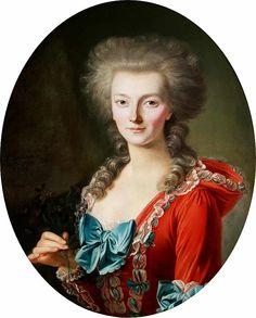 François-Bruno Deshays de Colleville (1732-1815): Portrait of a noblewoman. 1770.