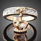 C Rhinestone Crystal GP Crown ring Crystal Rhinestone, Swarovski Crystals, Fashion Rings, Fashion Jewelry, Crown Jewels, Crown Rings, Charm Rings, Wedding Ring Bands, Gold Rings