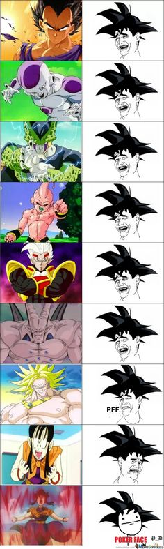 Dragonball Z, Joke, Fan made, Son Goku ; Do not fear anyone! Anime Meme, Otaku Anime, Dbz Memes, Funny Dragon, Dragon Ball Gt, League Of Legends, Comic, Random, Goku Chi Chi