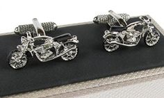 Motorbike Cufflinks Supplied in Onyx Art Box