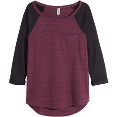 triniglezjb:  H&M Jersey top   ❤ liked on Polyvore (see more burgundy shirts)