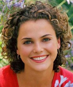 keri russell curly- love this short haired curly look she should always wear it curly