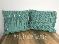 Handmade Cushion Covers, Cushion Cover Designs, Macrame Projects, Crafty Projects, Large Macrame Wall Hanging, Macrame Bag, Macrame Design, Macrame Patterns, Crochet