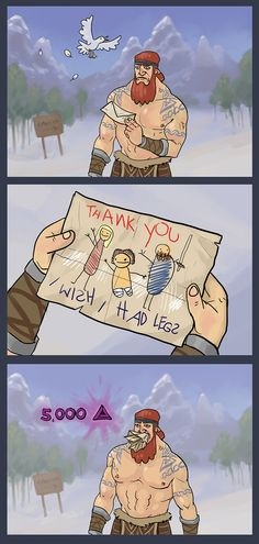Just getting a little karma boost in Guild Wars 2.   http://wiki.guildwars2.com/wiki/Refugee_Child%27s_Drawing
