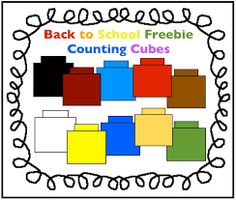 Back to School Freebie: Counting Cubes Clipart for Math - Charlottes Clips Numbers Kindergarten, Preschool Math, Math Numbers, Teaching Math, Math Activities, Maths, Teaching Ideas, Math Math, Preschool Ideas