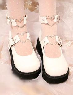 Who might doesn't absolutely adore gorgeous wedges?, look at our fabulous variety of zip-back and belt wedges for every special occasion! Goth Shoes, Lolita Shoes, Swag Shoes, Shoes Heels, Kawaii Shoes, Kawaii Clothes, Aesthetic Shoes, Platform High Heels, Pretty Shoes