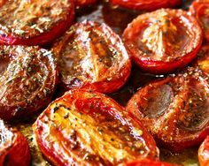 Balsamic and Olive Oil Roasted Rosemary Tomatoes