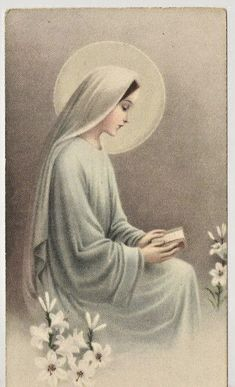 Catholic Pictures, Jesus Pictures, Blessed Mother Mary, Blessed Virgin Mary, Catholic Art, Religious Art, Immaculée Conception, Virgin Mary Art, Vintage Holy Cards