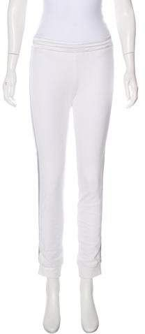 Ivory Callens mid-rise skinny-leg jogger pants with mesh panels at sides, tonal stitching throughout and elasticized waistband. Jogger Pants, Joggers, Sweatpants, Athletic Pants, Skinny Legs, White Jeans, Clothes, Tags, Women