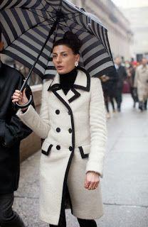 Hunger for style: Cantando bajo la lluvia | Giovanna Battaglia | #paraguas #umbrella #B&W