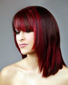 Best Dark Hair Color With Red Highlights