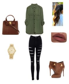 A fashion look from February 2016 featuring khaki green shirt, super stretchy skinny jeans and giuseppe zanotti booties. Browse and shop related looks. Khaki Green, Green Shirt, Giuseppe Zanotti, Women's Clothing, Zara, Fashion Looks, Skinny Jeans, Michael Kors, Woman