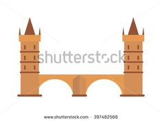 Fantasy knight castle and knights medieval castle. Knight castle old architecture tower and history fortress knight castle. Knight medieval hill town from battlements stone castle vector.  - stock vector