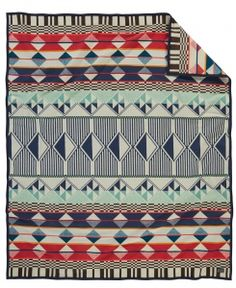 Pendleton Woolen Mills Southern Highlands Twin Blanket Multi 2016 new design Blue Blanket, Wool Blanket, Pendleton Woolen Mills, Pendleton Blankets, Woven Blankets, Luxury Throws, Camping Blanket, Cotton Throws, A Team