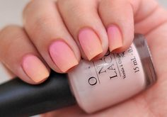 pink and orange summer ombre
