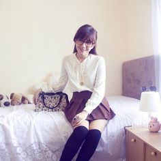 lucedale Quirky Girl, Geek Chic, Geek Stuff, Cute, How To Wear, Style, Fashion, Fall Winter, Geek Things