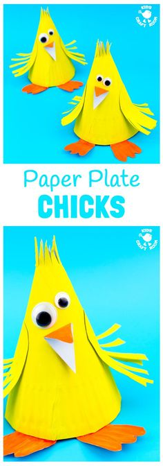This Paper Plate Chick Craft is such a fun Spring craft for kids and of course it's a lovely Easter craft too. This simple paper plate craft is adorably cute and great for preschoolers. Animal Crafts For Kids, Spring Crafts For Kids, Craft Activities For Kids, Toddler Crafts, Craft Kids, Paper Plate Crafts, Paper Plates, Creative Arts And Crafts, Easy Crafts