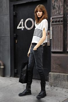 Freja Beha Erichsen's simple street look