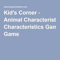 Kid's Corner - Animal Characteristics Game