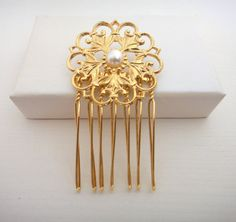 Romantic Hair Comb by NoaRottenberg on Etsy, ₪100.00