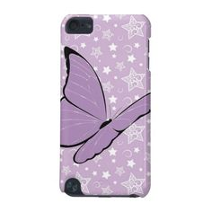 Purple Awareness Butterfly #Fibromyalgia #Lupus 5th Generation iPod Touch Case