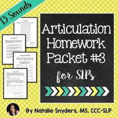 This 52 page articulation packet targets 13 different sounds with no prep, print & go pages.  Great for speech-language therapy sessions or to be sent home as homework!