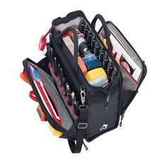 Husky 18 Inch Heavy Duty Nylon Tool Bag Electrician Tech Tools Organizer #Husky