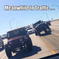 Meanwhile, in traffic...