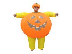 Europalms Halloween 83314730 - Aufblasbares Kürbiskostüm ¨Aufblasbares Kostüm zum anziehen ¨Aufblasbar durch integrierte Pumpe ¨Bequem und leicht zu tragen ¨Einfach zu falten und zusammenzupacken