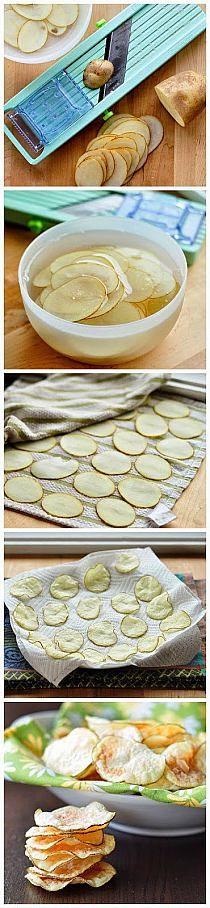 Cómo hacer las patatas fritas en el microondas