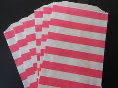 Hot Pink and White Striped Favor Treat Bags24 by ASweetCelebration, $4.75