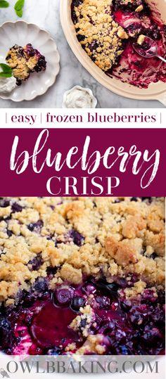 Frozen Blueberry Recipes, Blueberry Desserts, Recipes With Frozen Blueberries, Blackberry Dessert Recipes, Best Dessert Recipes, Fruit Recipes, Easy Desserts, Pie Recipes, Deserts