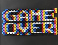 game over Fuse Bead Patterns, Beading Patterns, Fuse Beads, Perler Beads, Hama Beads Design, Kandi, Game Design, Pixel Art, Psychedelic