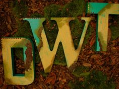 Painted Wall Letters  Family Initials by HappyMooseGardenArt, $8.00