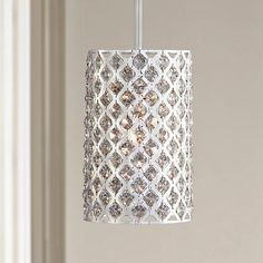 "Possini Euro Glitz Crystal and Chrome 6"" Wide Pendant Light - #M5531   www.lampsplus.com"