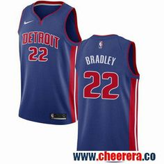 Nike Detroit Pistons #22 Avery Bradley Blue NBA Swingman Icon Edition Jersey