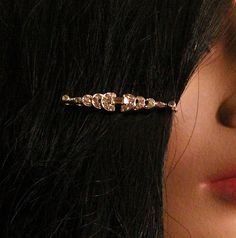 Art+Deco+Style+Rhinestone+Hairpin+Baguette+and+by+fancifulanne,+$7.00