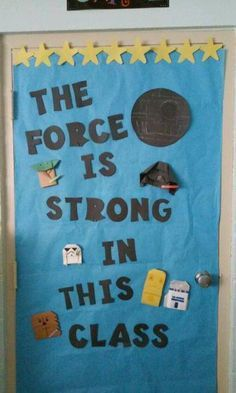 Origami star wars character space door for outer space classroom theme more space theme classroom, Space Theme Classroom, Star Wars Classroom, Disney Classroom, Classroom Decor Themes, Classroom Door, Science Classroom, Classroom Ideas, Decoracion Star Wars, Just In Case