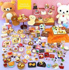 wee-little-things: Addicted to Rilakkuma by. Barbie Food, Doll Food, Barbie Dolls, Kawaii Shop, Kawaii Cute, Kawaii Stuff, Mini Things, All Things Cute, Rilakkuma