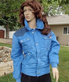 39cb0a051902 vtg 70 s PACIFIC TRAIL western style ski jacket winter coat blue womens  small  PacificTrail  BasicJacket