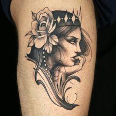 Freehand Tattoo by Deanna Smith God Tattoos, Pin Up Tattoos, Tribal Tattoos, Tatoos, Ink Master Winners, Ink Master Tattoos, Brisbane Tattoo, Intricate Tattoo, Goddess Tattoo