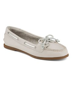 Look at this Sperry Top-Sider Gray & Platinum Audrey Leather Boat Shoe on #