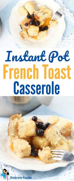 Kick off the day with this easy and delicious Instant Pot French Toast Casserole. Kids love it!